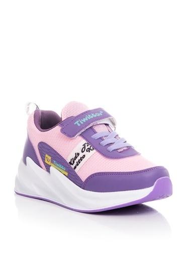 Tonny Black Lila Pembe Çocuk Spor Ayakkabı Tbz11  Lila